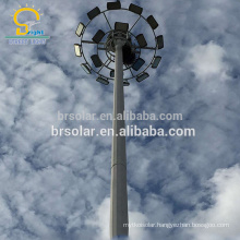 Special price for airport seaport villa high mast lighting poles specification